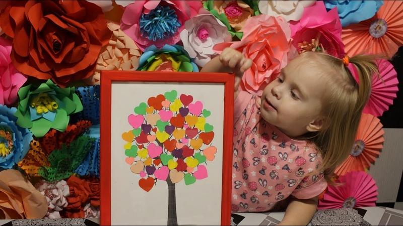 Поделка ко дню влюбленных Дерево любви.DIY.Crafts for Valentine's Day Tree of Love
