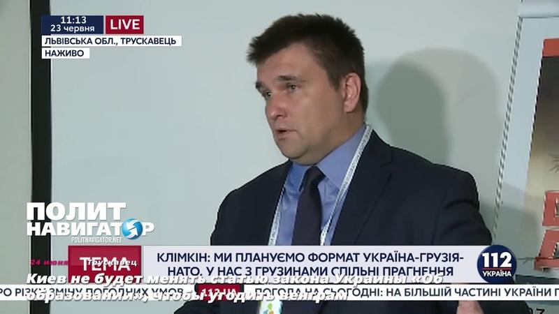 Киев не будет менять статью закона Украины «Об образовании», чтобы угодить венграм