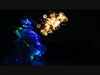 Ягница.Новогодний фейерверк.1 января 2019 год