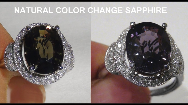 Certified Jewelry UNHEATED Natural VVS Color Change Sapphire Diamond 14k White Gold Ring - A141718