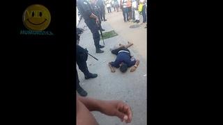 Бразильские копы добивают раненых бандитов, перестрелка, Бразилия