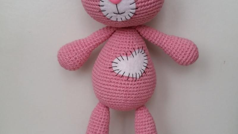 Ayı Bombon Yapımı 4 Kol Kulak Amigurumi Örgü Oyuncak Amigurumi Crochet Bear Bombo 4 Arm Ear