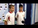 Интервью у участников футбольных сборов с испанской академией футбола - SFA.