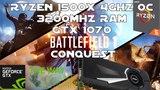 Ryzen 1500X + GTX 1070 - Battlefield 1 Conquest Gameplay - 1080p Ultra Settings