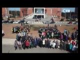19.04.2018 Флешмоб учащихся 8 лицея к 45-летию Соснового Бора