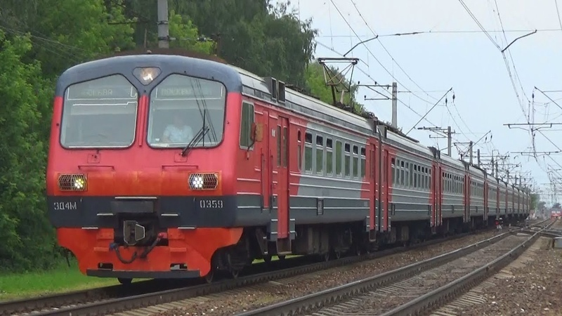 Электропоезд ЭД4М-0359 с рейсом Савёлово - Москва Савёловская