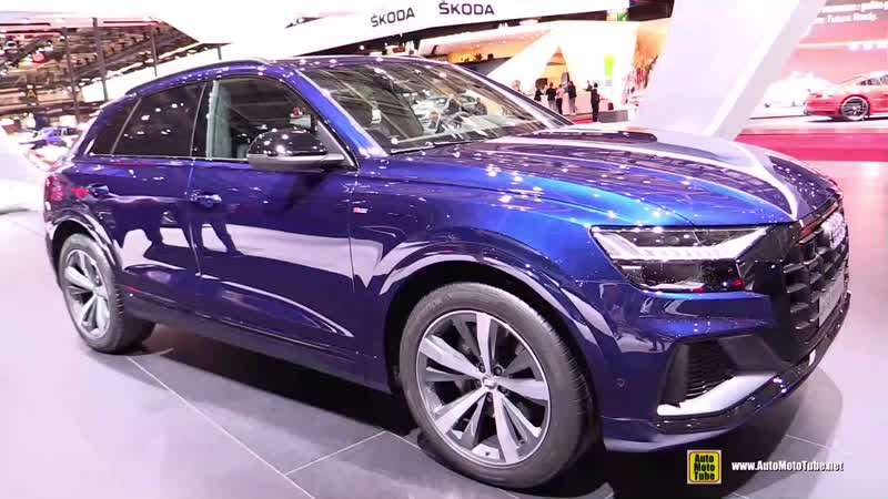 2019 Audi Q8 50 TDI Quattro Exterior and Interior Walkaround - Debut at 2018 Paris Motor Show
