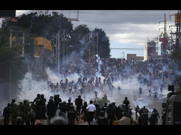 Hondurans Protests US Puppet Gov Privatization - Get Shot, Gassed Beaten Down, MSM Silent