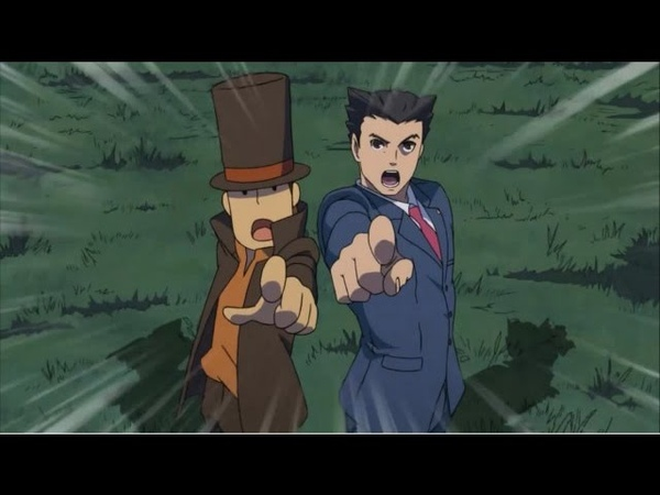 Professor Layton vs Phoenix Wright Ace Attorney AMV GMV Let it Burn