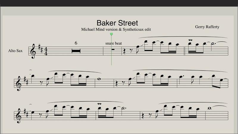 Michael Mind - Baker Street (Sax Alto version by Syntheticsax)