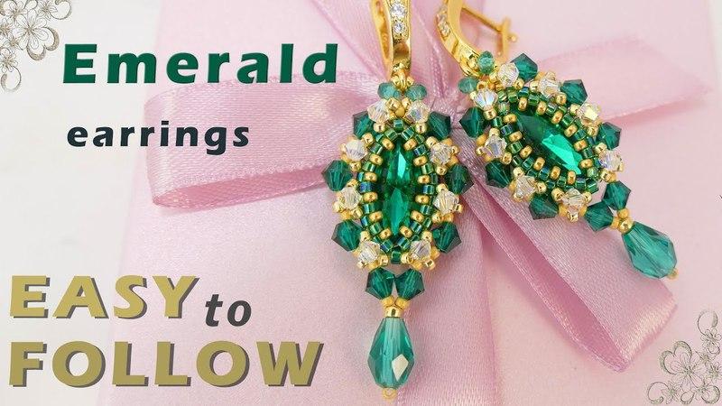 How to bezel Navette 15х7. Beaded earrings. Tutorial