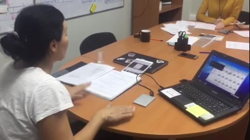 Занятие фонетического курса в школе языковой подготовки Окей