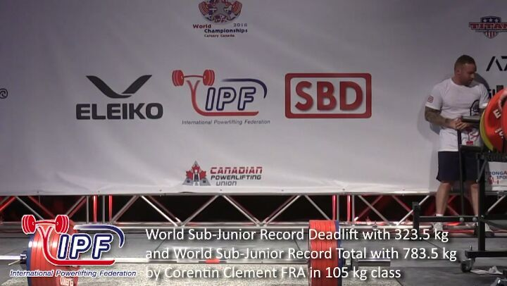 "IPF Powerlifting on Instagram: ""World Sub-Junior Record Deadlift with 323.5 kg and World Sub-Junior Record Total with 783.5 kg b"