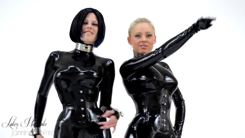 Double Trouble in Black Latex