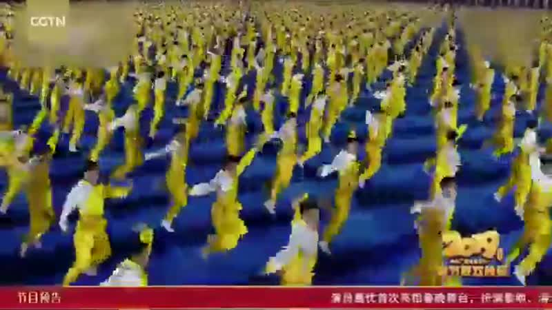Зрелищное поздравление с Китайским Новым годом от учеников шаолиньской школы бое