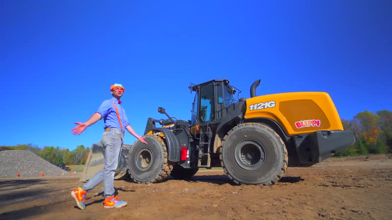 Diggers for Kids with Blippi _ The Wheel Loader Construction Truck
