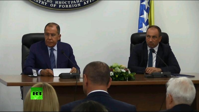 Лавров и глава МИД Боснии и Герцеговины подводят итоги переговоров — LIVE