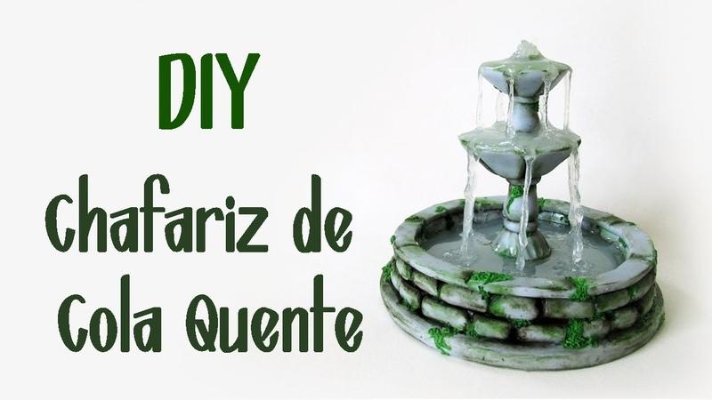 DIY: Chafariz Antigo em Miniatura - Hot Glue Fountain Tutorial | Ideias Personalizadas - DIY