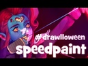 Speedpaint (Paint Tool SAI) Drawlloween Zombie-Elf