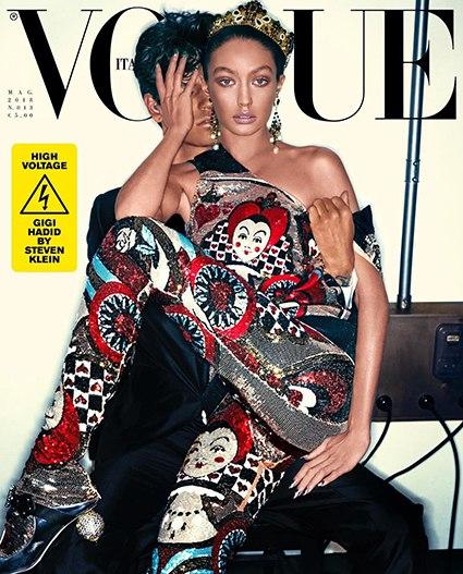 """В сети возмущаются новой обложкой итальянского Vogue: """"У Джиджи Хадид слишком темная кожа"""""""