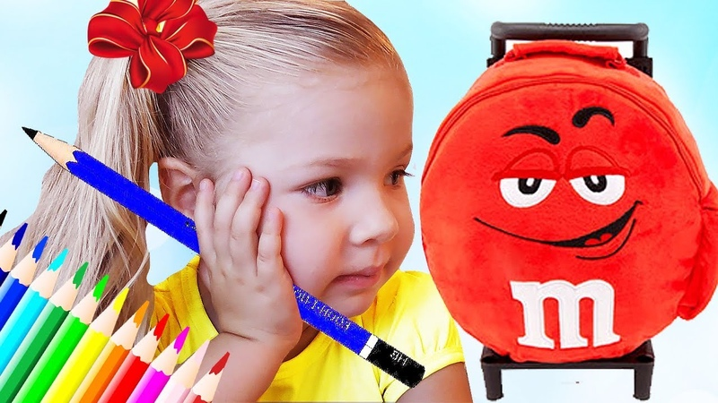 Roma and Diana pretend play School Funny videos for children and toddlers by Kids Diana Show