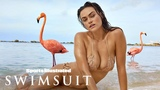 Myla Dalbesio Goes Wild, Gets Wet With Flamingos In Aruba Candids Sports Illustrated Swimsuit