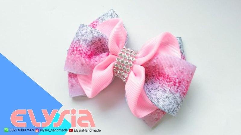 Laço Isabella Glitter 🎀 Isabella Glitter Ribbon Bow 🎀 DIY by Elysia Handmade