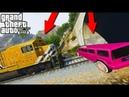КОЛХОЗНЫЙ ХАММЕР ЛИМУЗИН ПРОТИВ ПОЕЗДА ГТА 5 Mammoth Stretch vs Train GTA 5