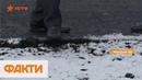 Снег не помеха На Волыни дорожники укладывают асфальт в мороз