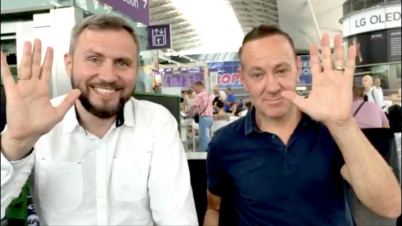 Встреча Сергея Шиловского с Мюрреем Хиберт накануне старта ШМК в Киеве 16 июля 3 августа