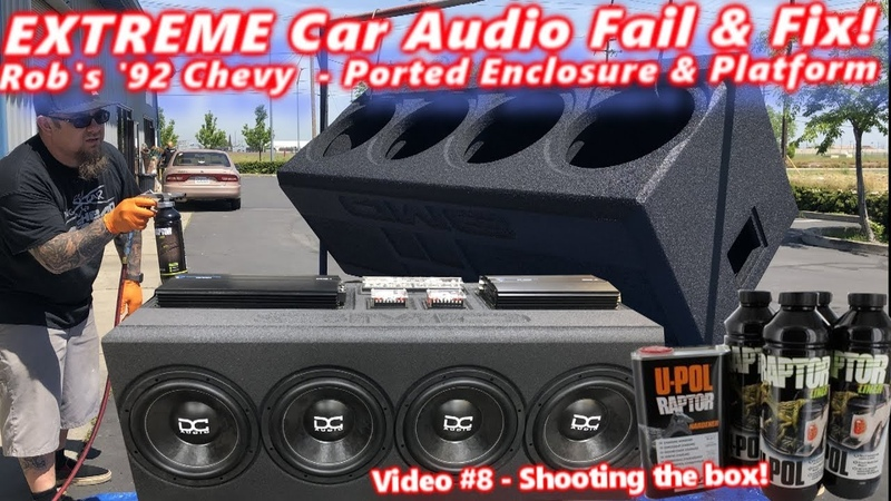 Extreme Car Audio FAIL Fix Bucket o' BASS Chevy 4 12 Subs Ported Box Platform DONE! Video 8