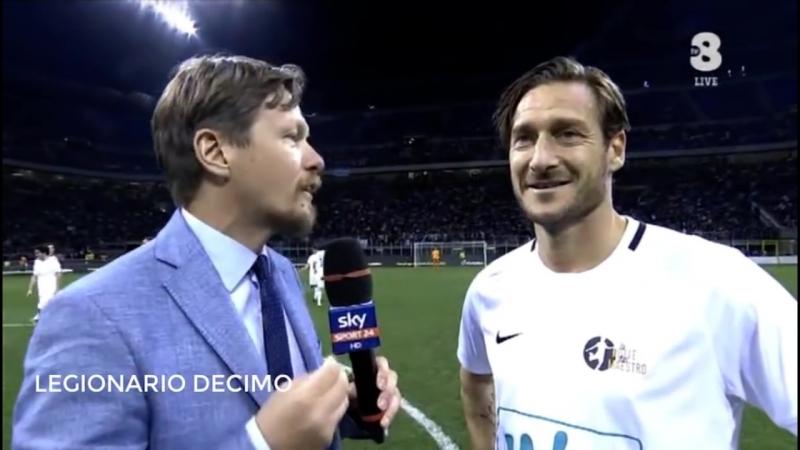 Francesco Totti vs Blue -Friendly Match- La Notte del Maestro [ADDIO DI PIRLO]