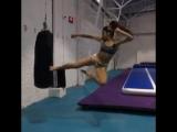 Тоби Йоко гери в прыжочке. Подготовка бойца. https://vk.com/oyama_mas