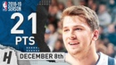 Luka Doncic Full Highlights Mavericks vs Rockets 2018.12.08 - 21 Pts, 7 Reb, 3 Steals!