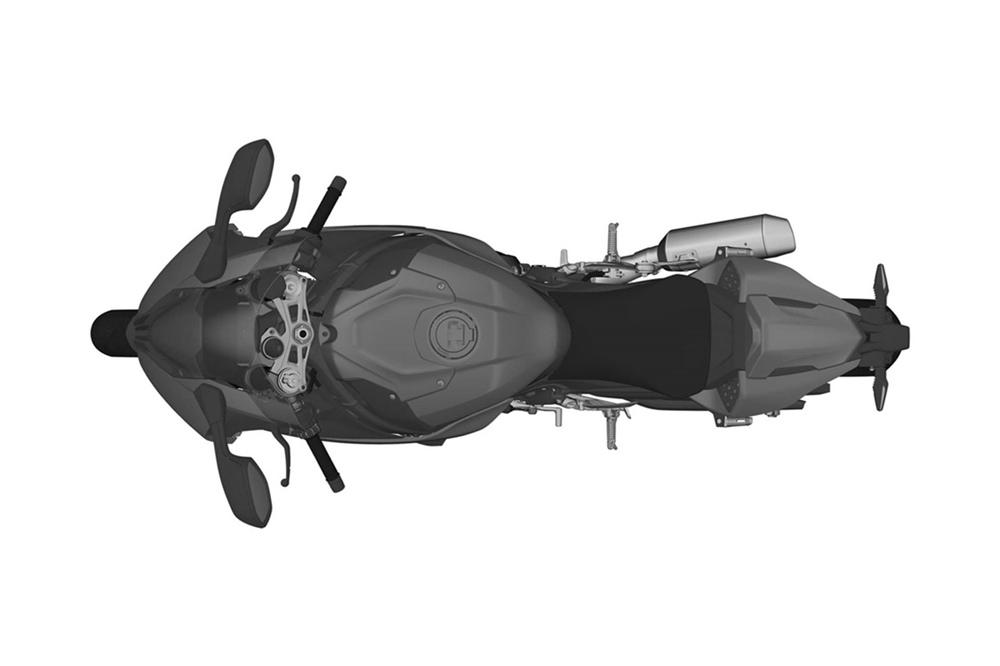 Патентные изображения BMW S1000RR 2019