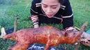 Ethnic girl cooking - Crispy Roast BBQ Whole RAT - Clean And Cook Rats