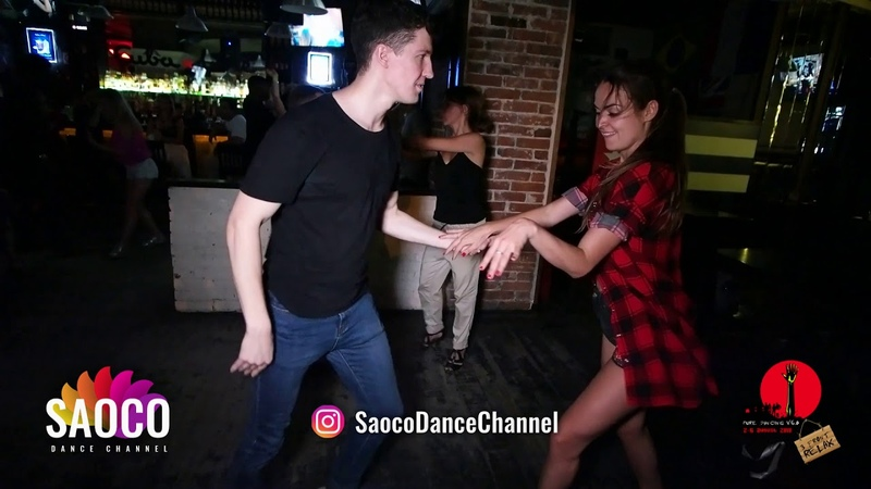 Sergey Shepilov and Anastasia Morozova Salsa Dancing in Saray, After Party The Third Front 06.08.18