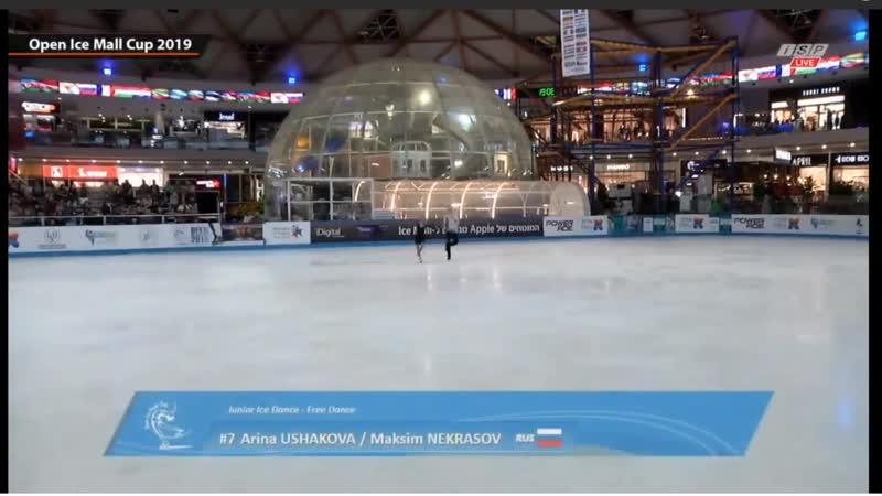 Арина Ушакова-Максим Некрасов Open Ice Mall Cup 2019 Junior Ice Dance - Free Dance
