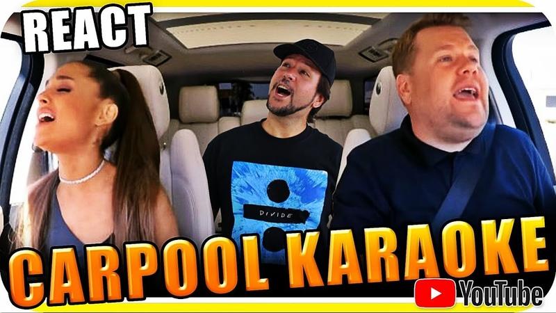 Ariana Grande James Corden KARAOKE - Marcio Guerra Reagindo React Reação