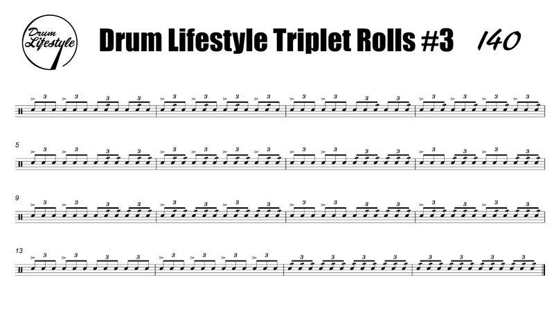 Triplet Rolls Exercise 3 Tempos 80100120140160180200