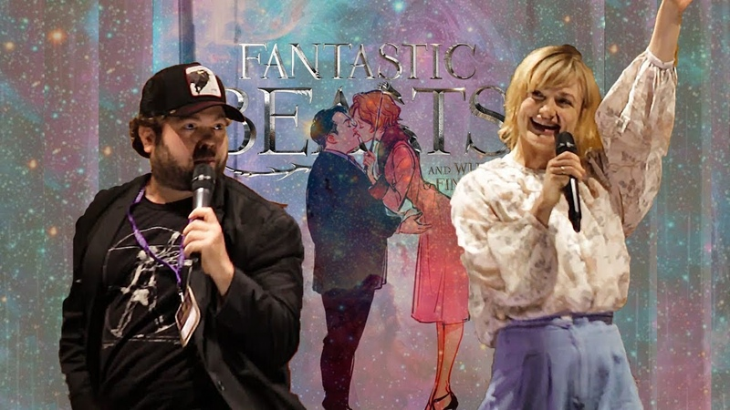 Alison Sudol and Dan Fogler - Queenie and Jacob - Fantastic Beasts Panel at Leaky Con