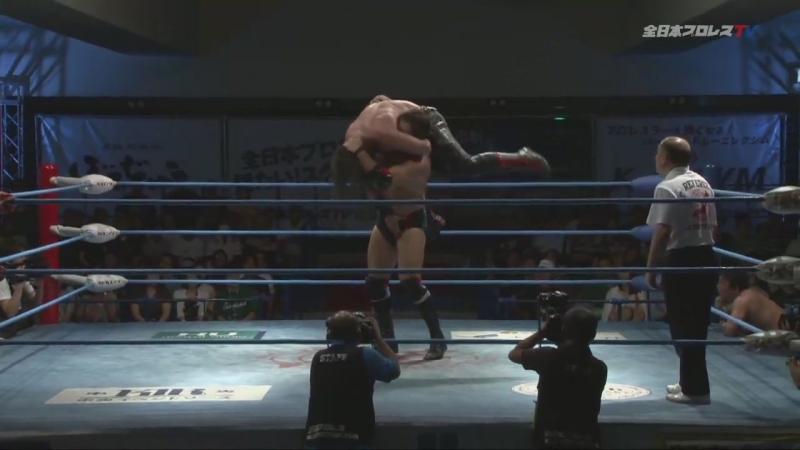 Suwama, Shuji Ishikawa (c) vs. TAJIRI, Gianni Valletta (AJPW - Summer Action Series 2018 - Day 6)