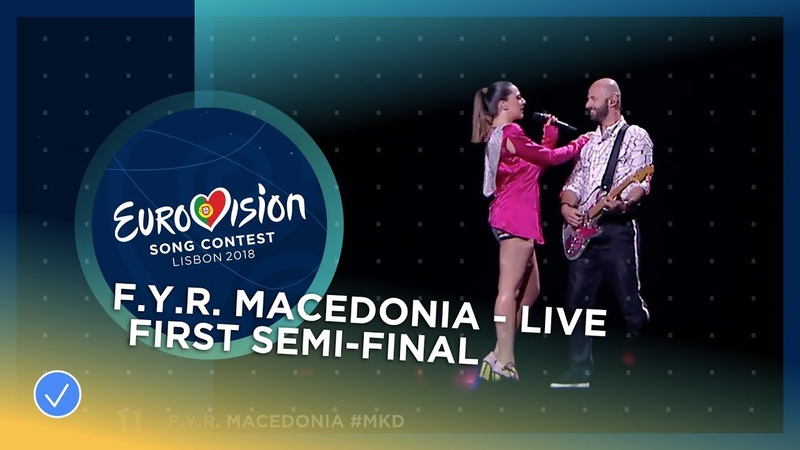 Eye Cue - Lost And Found - F.Y.R. Macedonia - LIVE - First Semi-Final - Eurovision 2018