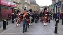 Massed Pipe Bands parade through Inverness City centre for Crocus Group event April 2017