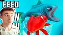 Я ВСТРЕТИЛ САМУЮ СИЛЬНУЮ РЫБКУ И НОВОЕ ОБНОВЛЕНИЕ В ИГРЕ Feed and Grow Fish
