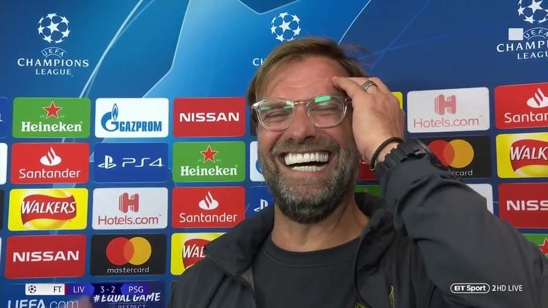 Jurgen Klopp Daniel Sturridge had a super super game Liverpool v PSG