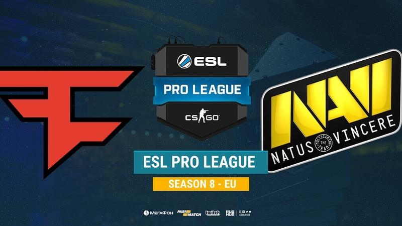 FaZe vs Na`Vi ESL Pro League S8 EU bo1 de overpass CrystalMay Smile
