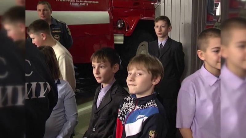 Юные гости пожарных – сюжет из города Белокурихи