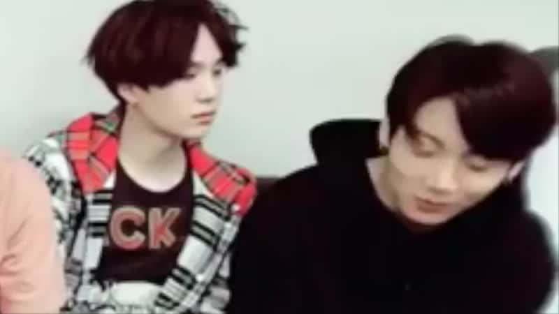 Notice how everytime yoongi finds himself being fond over jungkook in front of the cameras hed catch himself and look away