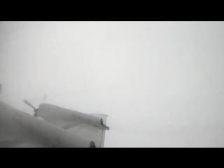 Time-lapse video of a NOAA WP-3D Hurricane Hunter NOAA42 flight into Hurricane Florence on